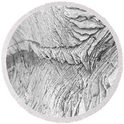 River Of Rock Round Beach Towel