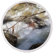 River Rapids Round Beach Towel
