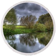 River Reflections Round Beach Towel
