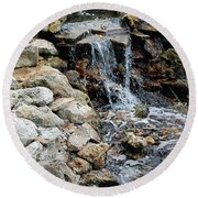 River Rock Of The Unknown Round Beach Towel