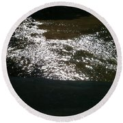River Shimmer Round Beach Towel