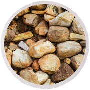 River Stones Round Beach Towel