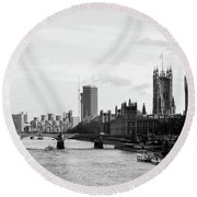 River Thames, London Round Beach Towel