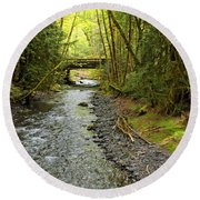 River Through The Rainforest Round Beach Towel