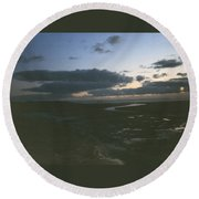 River To The Sea Round Beach Towel