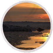 River To The Sun 2 Round Beach Towel