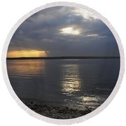 River Volga1 Round Beach Towel