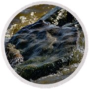 River Washed Rock Round Beach Towel