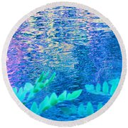 Distractions From The River Waters Round Beach Towel
