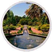 Botanical Gardens Round Beach Towel by Lisa Wooten