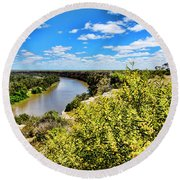 Riverbend Round Beach Towel