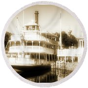 Riverboat, Liberty Square, Walt Disney World Round Beach Towel