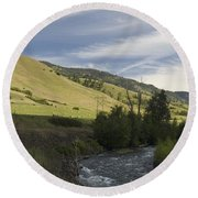 River's Bend Round Beach Towel