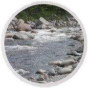 Rivers Of New Hampshire Round Beach Towel