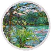 Riverview Spring Stage One Round Beach Towel
