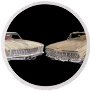Riviera And Impala 1965 And 1959 Round Beach Towel