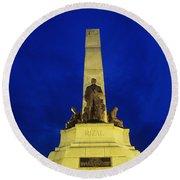 Rizal Monument Round Beach Towel