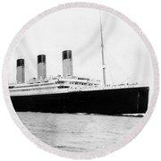 Rms Titanic Round Beach Towel