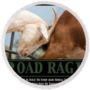 Road Rage Round Beach Towel