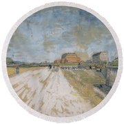 Road Running Beside The Paris Ramparts Paris, June - September 1887 Vincent Van Gogh 1853  1890 Round Beach Towel
