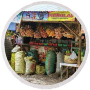 Road Side Store Philippines Round Beach Towel