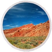 Road To Arches National Park Round Beach Towel