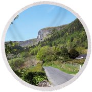 Road To Benbulben County Leitrim Ireland Round Beach Towel