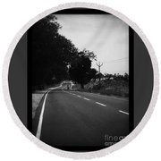 Road To Eternity Round Beach Towel