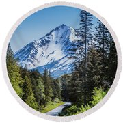 Road To Hope Round Beach Towel