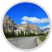 Road To Jasper Round Beach Towel