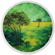 Road To Nowhere 1 By Madart Round Beach Towel