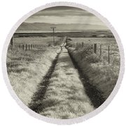 Road To Nowhere Round Beach Towel