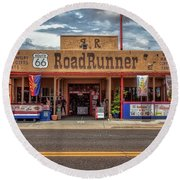 Roadrunner Round Beach Towel
