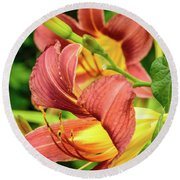 Roadside Lily Round Beach Towel