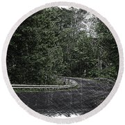 Roadway Fingers Lakes New York Area Pa 02 Round Beach Towel