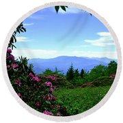Roan Mountain Rhododendron Gardens Round Beach Towel
