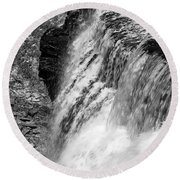 Roar Of The Falls Round Beach Towel