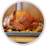 Roast Turkey Round Beach Towel