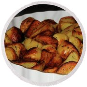 Roasted Potatoes Round Beach Towel