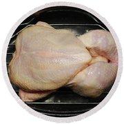Roasting Whole Chicken, 1 Of 5 Round Beach Towel