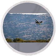 Rob Caster In Miss Diane, Friday Morning 16x9 Aspect Round Beach Towel