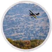 Rob Caster In Miss Diane, Friday Morning 5x7 Aspect Signature Edition Round Beach Towel