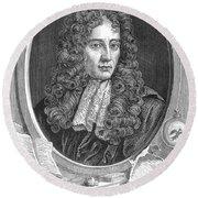 Robert Boyle, Irish Polymath Round Beach Towel