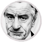 Robert Deniro  Round Beach Towel