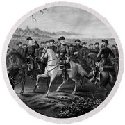 Robert E. Lee And His Generals Round Beach Towel