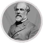Robert E Lee - Confederate General Round Beach Towel