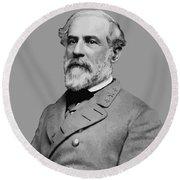 Robert E Lee - Confederate General Round Beach Towel