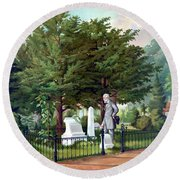 Robert E. Lee Visits Stonewall Jackson's Grave Round Beach Towel