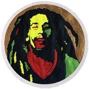 Robert Nesta Marley Round Beach Towel