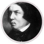 Robert Schumann, German Composer Round Beach Towel